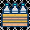 Milk Crate Milk Bottle Crate Icon