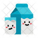 Milk Glass Milk Pack Icon