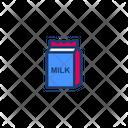 Milk In Papper Bag Icon