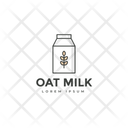 Oat Milk Milk Trademark Milk Insignia Icon