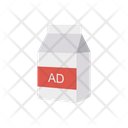 Milk Pack Ads Icon