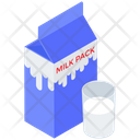 Milk Pack Milk Pack Container Milk Carton Icon