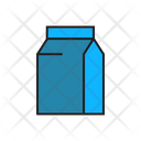 Milk Tea Cardboard Icon