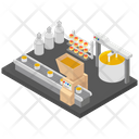 Milk Products Cheese Production Dairy Farm Icon