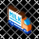 Truck Milk Factory Icon