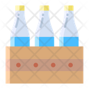 Amilk Crate Milkbottles Carton Icon