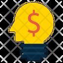 Mind Dollar Money Icon