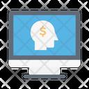 Mind Head Dollar Icon