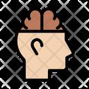 Mind Brain Anatomy Icon