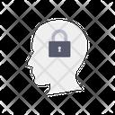 Mind Lock Brain Security Brain Lock Icon
