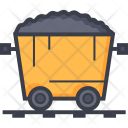 Mine Cart Gold Icon