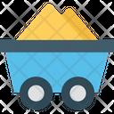 Mine Cart Coal Cart Construction Cart Icon