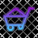 Mine Cart Wheelbarrow Barrow Icon