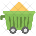 Minecart Cement Cart Icon