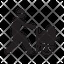 Miner Mining Labor Icon