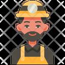 Miner Mining Worker Icon