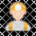 Engineer Worker Helmet Icon