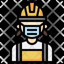 Miner Woman Overalls Icon