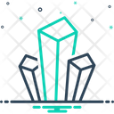 Mineral Metallic Crystal Icon
