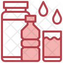 Mineral Water Food And Restaurant Water Glass Icon