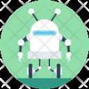 Mini Robot Technological Icon