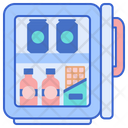 Mini Fridge Mini Bar Small Refrigerator Icon