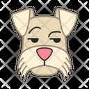Mini Schnauzer Dog Smirking Icon