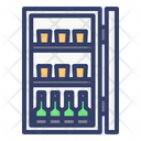 Minibar Refrigerator Drinks Icon