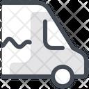 Minibus Logistics Door To Door Icon