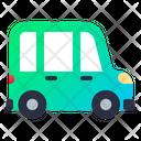 Minibus Transportation Vehicle Icon