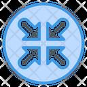 Minimize Arrow Resize Icon