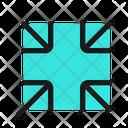 Minimize Collapse Exit Icon