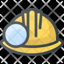 Mining Helmet Protection Icon