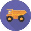 Mining Truck Shipping Icon