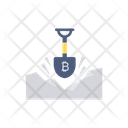 Mining Bitcoin Shovel Icon