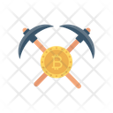 Mining Bitcoin Axe Icon