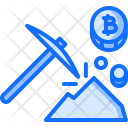 Mining Pickaxe Stone Icon