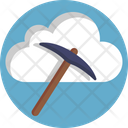 Bitcoin Mining Cloud Icon