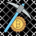 Mining bitcoin Icon