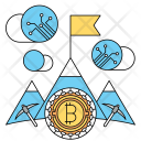 Mining Bitcoin Cryptocurrency Icon