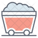 Mining Cart Coal Mine Cart Mining Trolley Icon
