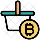 Mining Cart With Bitcoin Shopping Cart Icon