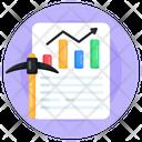 Data Mining Mining Chart Mining Graph Icon