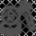 Mining Coins Bitcoin Mining Bitcoin Digging Icon