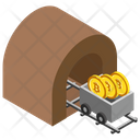 Mining Cryptocurrency Bitcoin Mining Bitcoin Trolley Icon