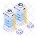 Distributed Servers Connected Servers Mining Servers Icon