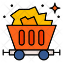 Mining Trolley Coal Combustible Icon