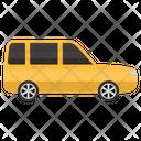 Minivan Road Trip Vehicle Transport Icon