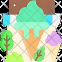 Mint Ice Cream Icon