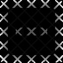 Minus Box Remove Icon